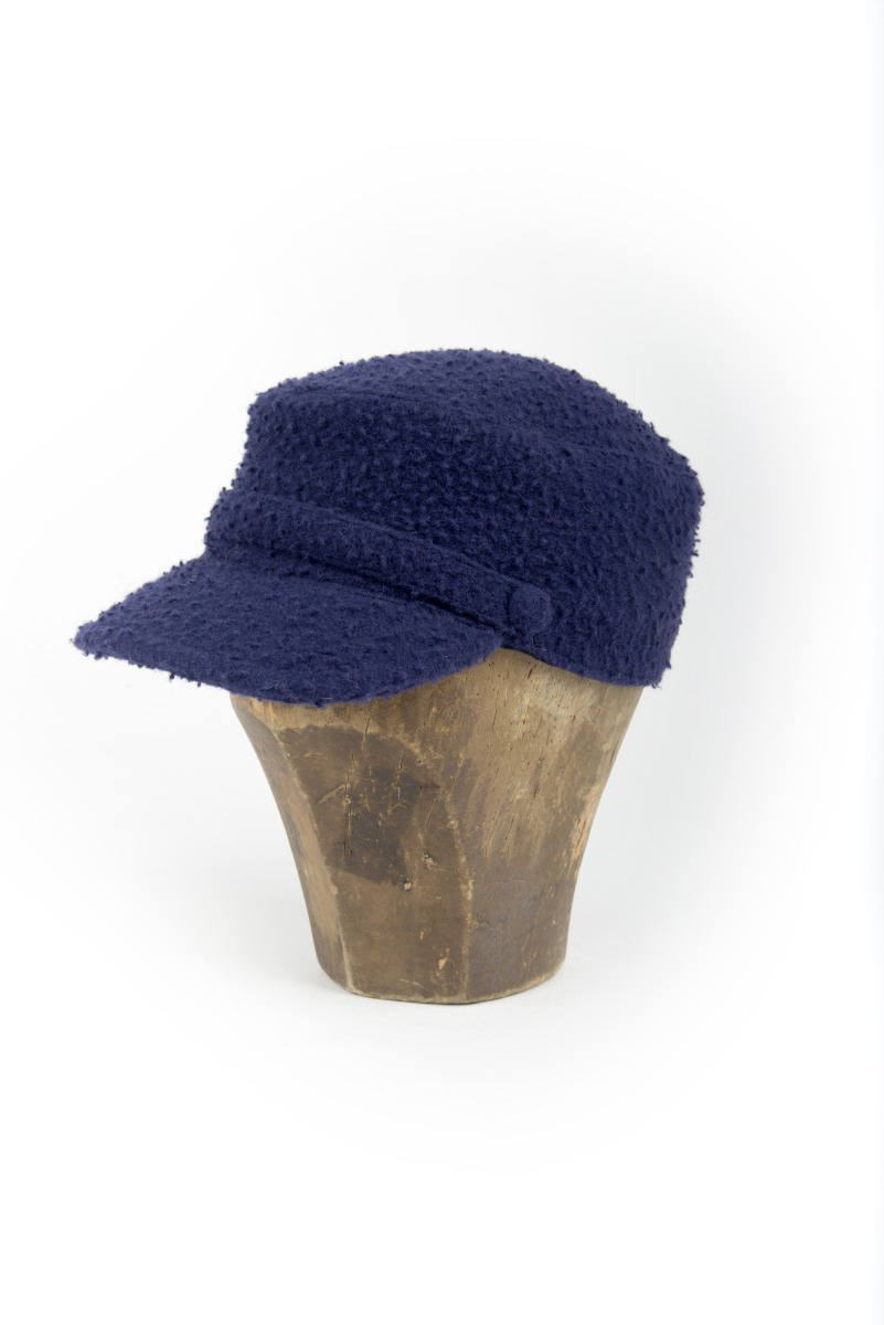 8443324372ab4 Cadet cap in blue Casentino cloth. Handmade in Italy. Buy now online!