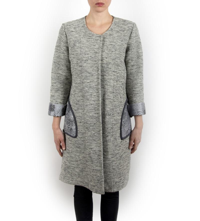 brand new 965a3 c2d2c Cappotti corti da donna in lana con seta, nero e grigio. Acquista ora  online!