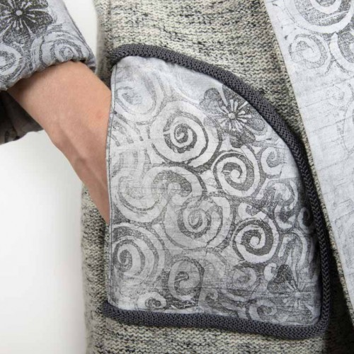 DGM 02-02 Ladies short knit coat