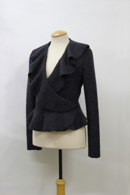 DG 01-15 Boiled wool jacket in charcoal