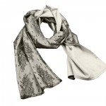 Old Fashion Sartoria, sciarpa lunga in cashmere e seta, grigio, nero, double face, ASC 02-02