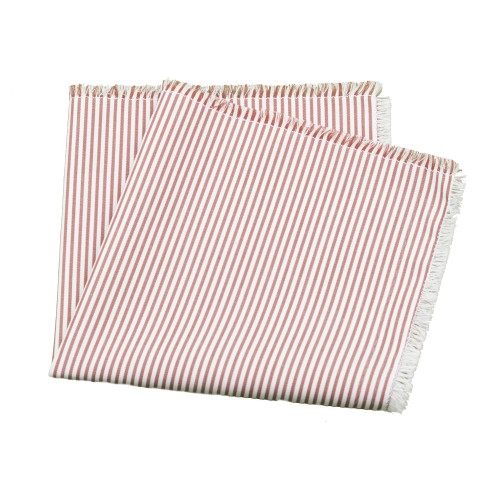 Old Fashion Sartoria, Pocket handkerchief, red, white, strips, cotton, handmade in Florence, made in Italy, PO 01-10