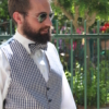 Men's vest and bow tie handmade, made to measure