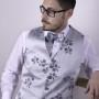 handmade bespoke menswear waistcoat and bow tie