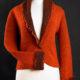 Giacca da donna in bouclé di lana cotta, collo sciallato