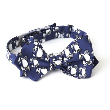 Old Fashion Sartoria, Papillon da annodare in seta, blu, navy, bianco, animalier, elegante, regalo, cerimonia, artigianale, sartoriale, APA 04-12