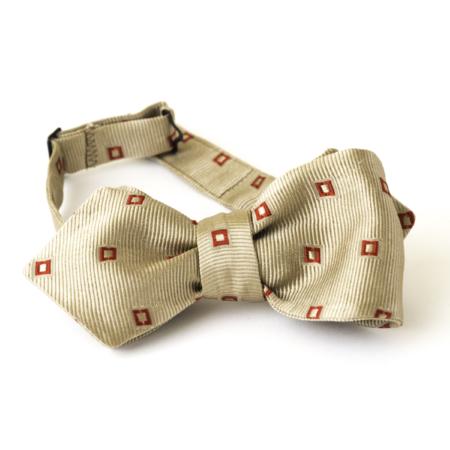 Old Fashion Sartoria, Papillon da annodare in seta, cammello, rosso, elegante, cerimonia, artigianale, sartoriale, APA 04-15