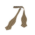 Old Fashion Sartoria, Selftie camel beige with ivory dots, Italian Style, handmade, APA 04-16