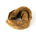 Scaldacollo, sciarpa ad anello, maculato, arancione, bianco
