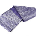 Scaldacollo, sciarpa ad anello, maculato, viola, bianco