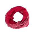 Old Fashion Sartoria, scaldacollo double face in lana cotta, rosso, bianco, fatto a mano, ASC 01-09_fragola