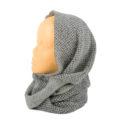 , Scaldacollo cappuccio grigio in lana cotta, artigianale,ASC 01-09_muschio_3