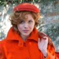 Old Fashion Sartoria, Cappello per uomo e donna in panno casentino, coppola, arancione, moda tradizionale, sostenibile, artigianale, sartoriale, AC 02-01
