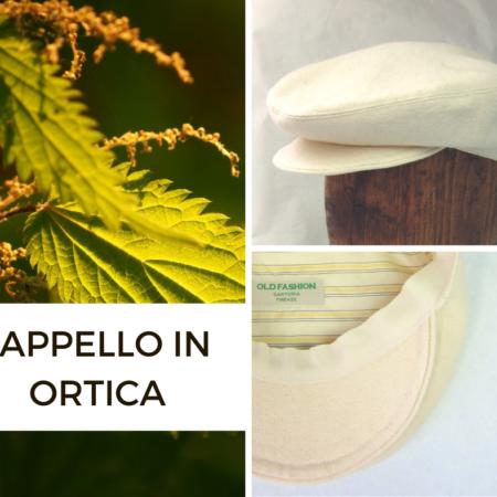 Cappello in tessuto di ortica, fibra naturale