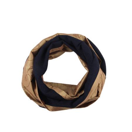 ASC 01-14 Sciarpa ad anello lana cashmere seta circle scarf