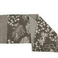 ASC 01-17 sciarpe ad anello double face lana cotta cotone fiori cammello beige avorio sabbia