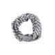 ASC 01-18 Sciarpe ad anello lana cotta cotone avion avorio celeste blu lisca loop boiled wool cotton
